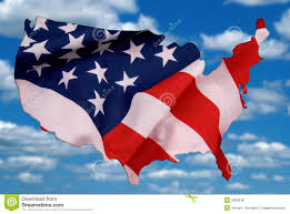 Outline Of Usa Map by Flag And Outline Of The Usa Royalty Free Stock Photos Image