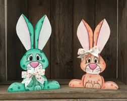 easter bunny decorations reclaimed wood bunny easter rabbit easter decor