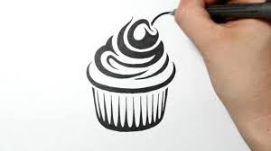 drawing a cupcake tribal tattoo design style time lapse youtube