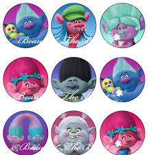 aliexpress buy singing trolls sticker cupcake toppers