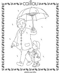 caillou coloring pages grandpa caillou pbs kids