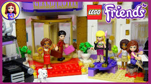 lego friends heartlake grand hotel set unboxing building review
