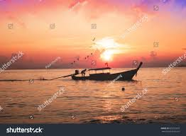 Sunset Orange by Blurred Background Abstract Beautiful Blazing Sunset Stock Photo