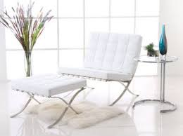 White Chair With Ottoman White Barcelona Chair And Ottoman Editeestrela Design