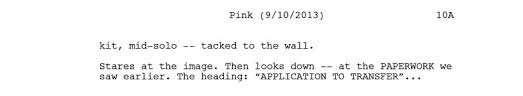 4 examples of good visual writing in a movie script