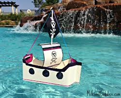 make a floating pirate ship out of recyclables pirate ships