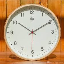 silent wall clock brief modern beech wood ultra silent wall clock