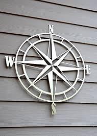 nautical compass metal wall handmade