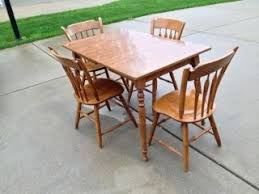 ethan allen kitchen table ethan allen kitchen table with 4 thumb back chairs and retro dining