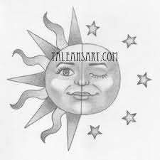 sun and moon sketch u2013 images free download