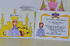 Disney Princess Invitation Cards Disney Princess Sofia The First Invitations Jingvitations