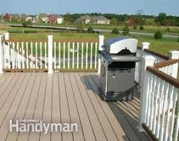 How To Build A Deck Handrail How To Build A Deck With Composites Family Handyman