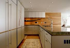 wood backsplash kitchen awesome kitchen with wooden backsplash in modern loft redesign