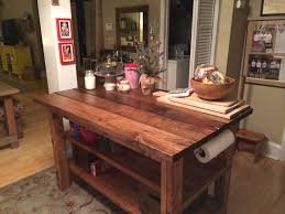 rustic kitchen island table built rustic kitchen island
