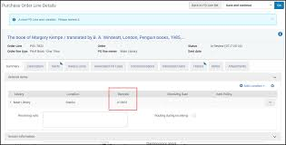 manually creating a po line ex libris knowledge center