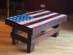 diy pallet american flag table pallet furniture plans