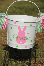 personalized easter buckets two personalized easter baskets by happythoughtsgifts
