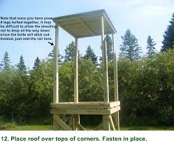 Box Blinds For Deer Hunting Free Box Deer Stand Building Plans