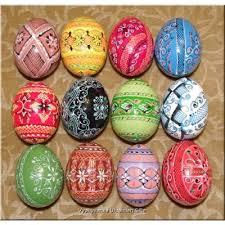 ukrainian decorated eggs wooden pysanky