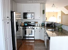 Kitchen Cabinets Painted White Decorating Dear Lillie Kitchen With Ceiling Lights And White