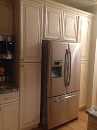 Discount Rta Kitchen Cabinets by Painting Of Complete Your Kitchen With Double Wide Refrigerator