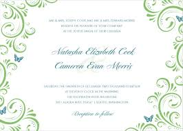 wedding invite template free wedding invitation template with simple green floral patterns