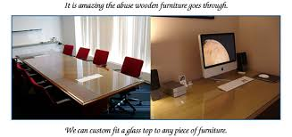 glass top to protect wood table custom glass table tops