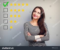 best rating evaluation business confident happy stock photo