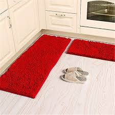 Bathroom Rug Runner Washable Soft Microfiber Anti Slip Floor Mat Shag Chenille Rug Bathroom Rug