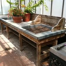 potting table with sink garden potting table garden potting table impressive on bench with