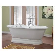 cheviot carlton 70 inch cast iron bathtub with flat rim and