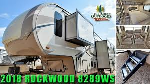 new 2018 rockwood 8289ws signature ultra lite fifth wheel rear