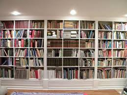 floor to ceiling bookcases with ladder home design ideas
