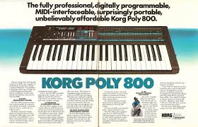 retro synth ads korg poly 800 keyboard 1984