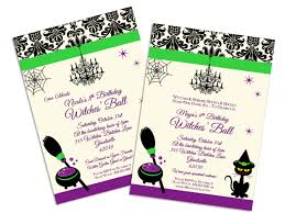 halloween glam witches u0027 ball birthday party personalized