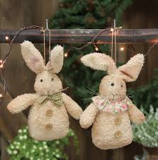 fabric bunny ornament