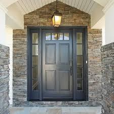 Best Front Door Paint Colors Benjamin Moore Flint Blue Grey Front Door Via