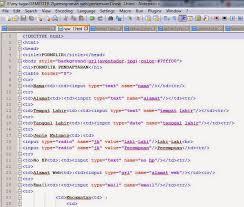 membuat form html online belajar ment cara membuat form registrasi pendaftaran menggunakan html