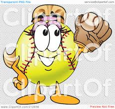 halloween softball background royalty free rf clipart illustration of a girly softball mascot