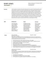 retail resume template sales skills cv template 8 best resumes images on cover