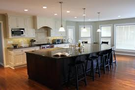 Furniture Style Kitchen Island Articles With Black Kitchen Island With Bar Stools Tag Terrific