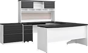 amazon com altra furniture pursuit u shaped desk with hutch