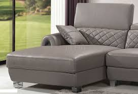 Modern Furniture Depot by Grey Full Italian Leather Modern Sectional Sofa