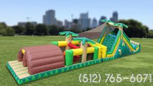 austin bounce house rentals 40 u0027 backyard rush obstacle course