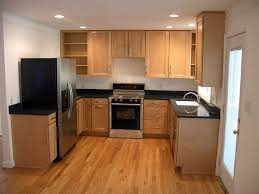 favorable small kitchen design with u shape kitchen cabinet and
