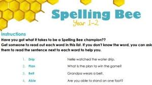 spelling bee stage 1