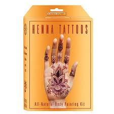 earth henna mehndi u0026 black jagua temporary tattoos body art kits