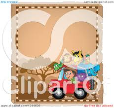 safari jeep clipart clipart of a happy safari boy driving a jeep full of animals on a