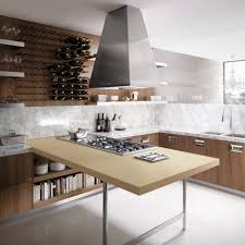 semi floating bar artistic wooden italian kitchen gorgeous wall