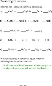 writing and balancing chemical equations worksheet 28 templates